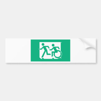 Accessible Means of Egress Icon Running Man Exit Bumper Sticker