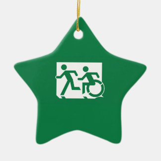 Accessible Means of Egress Icon Running Man Exit Ceramic Star Decoration