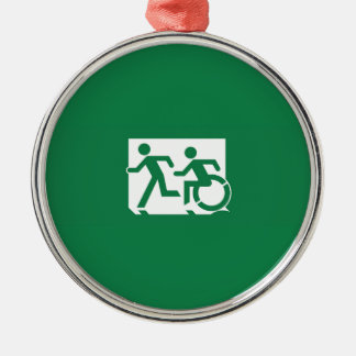 Accessible Means of Egress Icon Running Man Exit Christmas Ornament