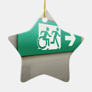 Accessible Means of Egress Icon Running Man Exit Christmas Ornaments