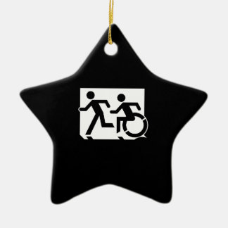 Accessible Means of Egress Icon Running Man Sign Ceramic Star Decoration