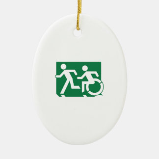 Accessible Means of Egress Icon Running Man Sign Ornaments