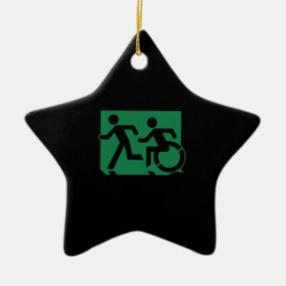 Accessible Means of Egress Icon Running Man Sign Ornament