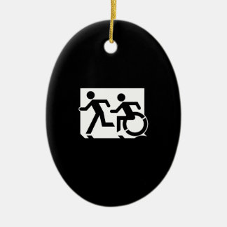 Accessible Means of Egress Icon Running Man Sign Christmas Ornament