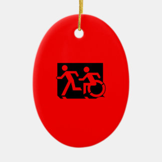 Accessible Means of Egress Icon Running Man Sign Christmas Ornaments