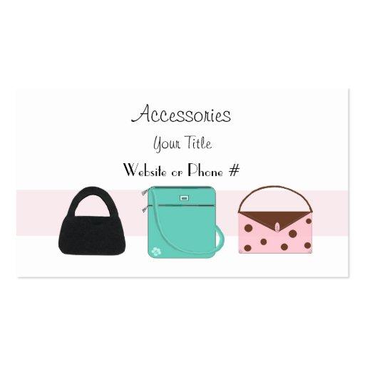 collections of handbag business cards. Black Bedroom Furniture Sets. Home Design Ideas