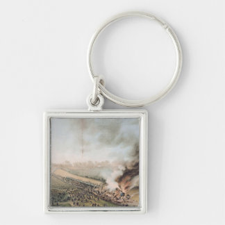 Accident on the Versailles to Bellevue Railway Silver-Colored Square Key Ring
