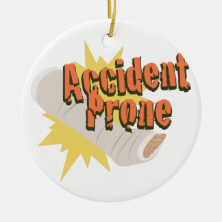 Accident Prone Leg Christmas Ornament