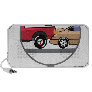 Accident Truck and Wagon Suv Wreck Laptop Speakers