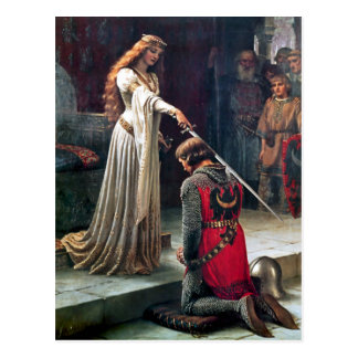Accolade by Edmund Blair Leighton Postcard