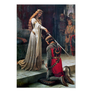Accolade by Edmund Blair Leighton Poster