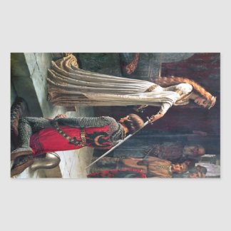 Accolade by Edmund Blair Leighton Rectangular Sticker