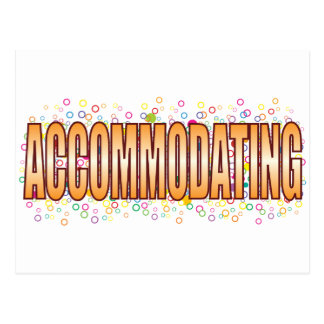 Accommodating Bubble Tag Postcard