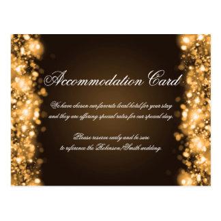 Accommodation Sparkling Lights Gold Postcard