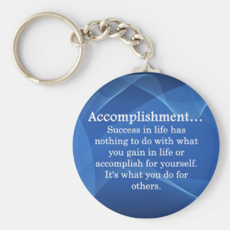 Accomplish Basic Round Button Key Ring