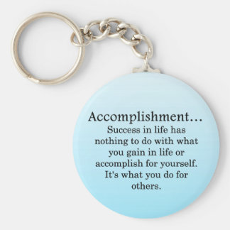 Accomplishment Basic Round Button Key Ring