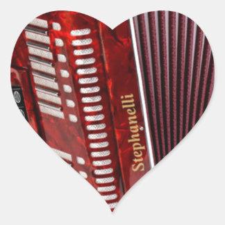 ACCORDIAN MUSICAL INSTRUMENT HEART STICKER