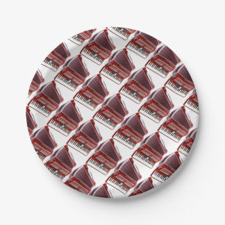ACCORDIAN MUSICAL INSTRUMENT PAPER PLATE
