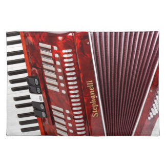 ACCORDIAN MUSICAL INSTRUMENT PLACEMAT