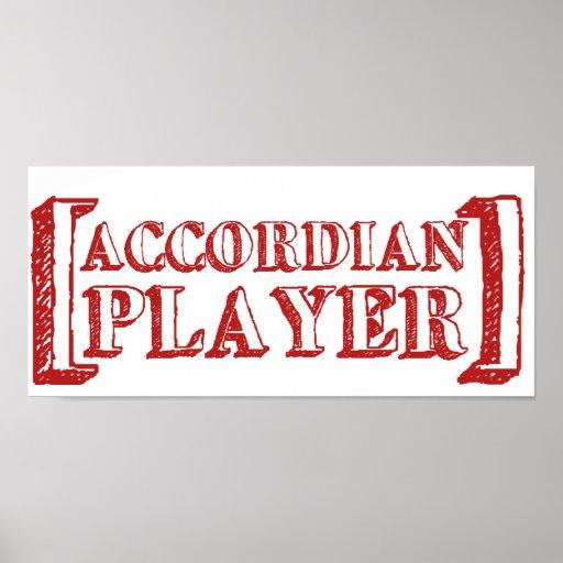 Accordian  Player Print