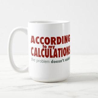 According to My Calculations... Basic White Mug