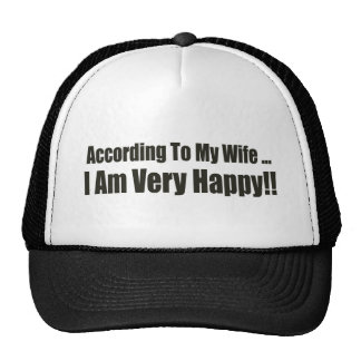 According To My Wife Funny T-shirts Gifts Hats