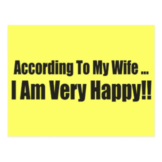 According To My Wife Funny T-shirts Gifts Postcard