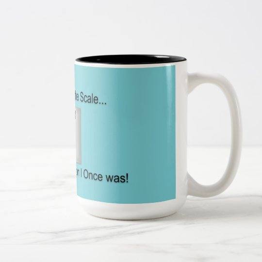 According to the Scale Two-Tone Coffee Mug