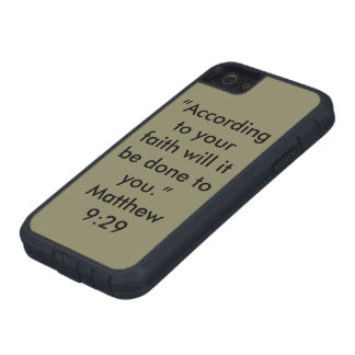 """""""According to your faith"""" Iphone 5/5S and SE Cell Tough Xtreme iPhone 5 Case"""
