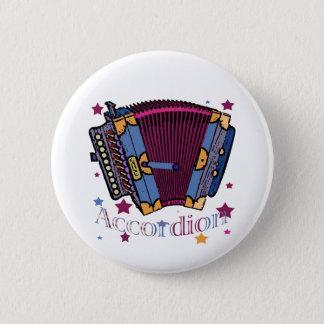 Accordion 6 Cm Round Badge