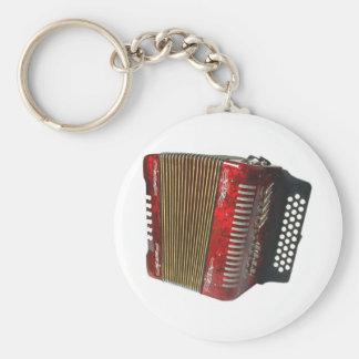 Accordion Basic Round Button Key Ring