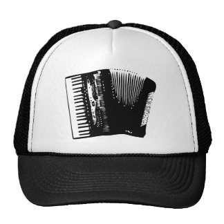 accordion mesh hat