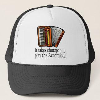 Accordion-chutzpah Trucker Hat