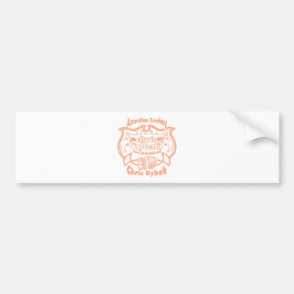 Accordion Cowboy Logo - Pink apricot Bumper Sticker