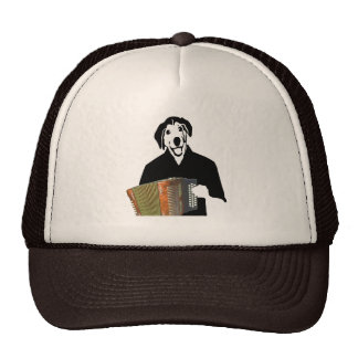 Accordion Dog Player Funny Cajun Music Trucker Hat