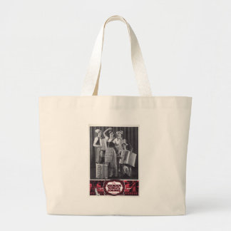 Accordion Girls Vintage Ad Jumbo Tote Bag