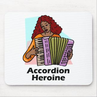 Accordion Heroine Mousepads