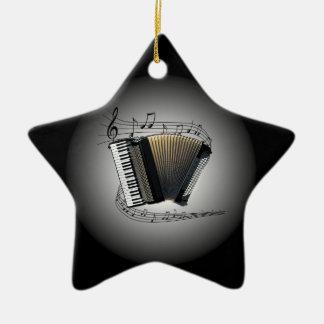 Accordion ~  Musical Globe ~ Musical Scale ~ Christmas Ornament