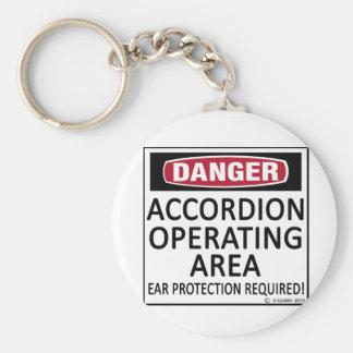 Accordion Operating Area Basic Round Button Key Ring