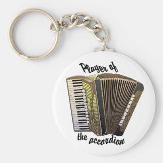 Accordion Player keychain