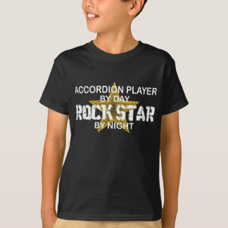 Accordion Player Rock Star by Night T-Shirt