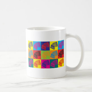 Accordion Pop Art Basic White Mug