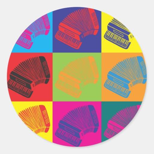 Accordion Pop Art Stickers