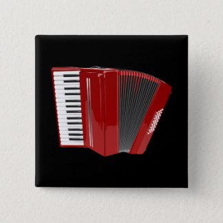 Accordion: Red Accordion 15 Cm Square Badge