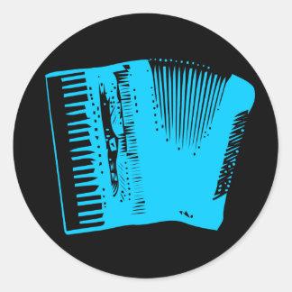 accordion round sticker