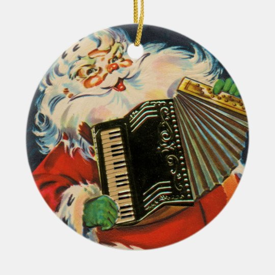 Accordion Santa Christmas Ornament