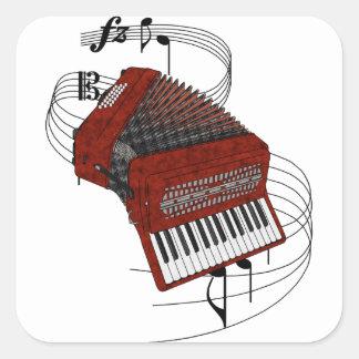 Accordion Square Sticker