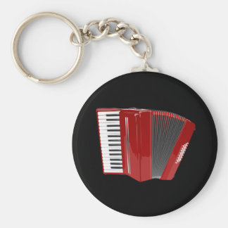 Accordion: The red accordion Key Ring