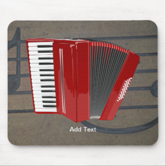 Accordion: The Red Accordion template Mouse Mat