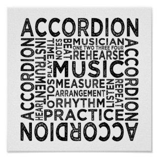 Accordion Typography Poster